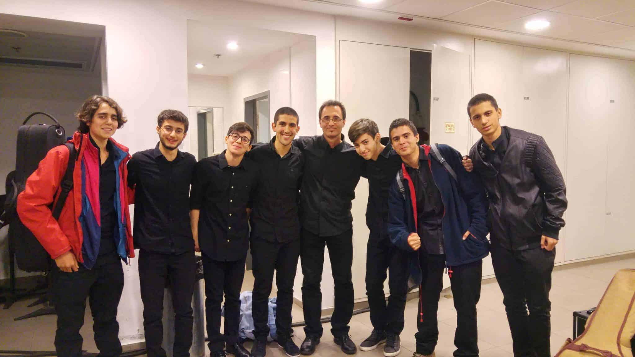 Alec with ICM Student Jazz Ensemble