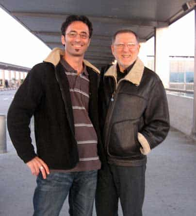 with Chuck Israels at Ben Gurion Ariport, Israel 2009
