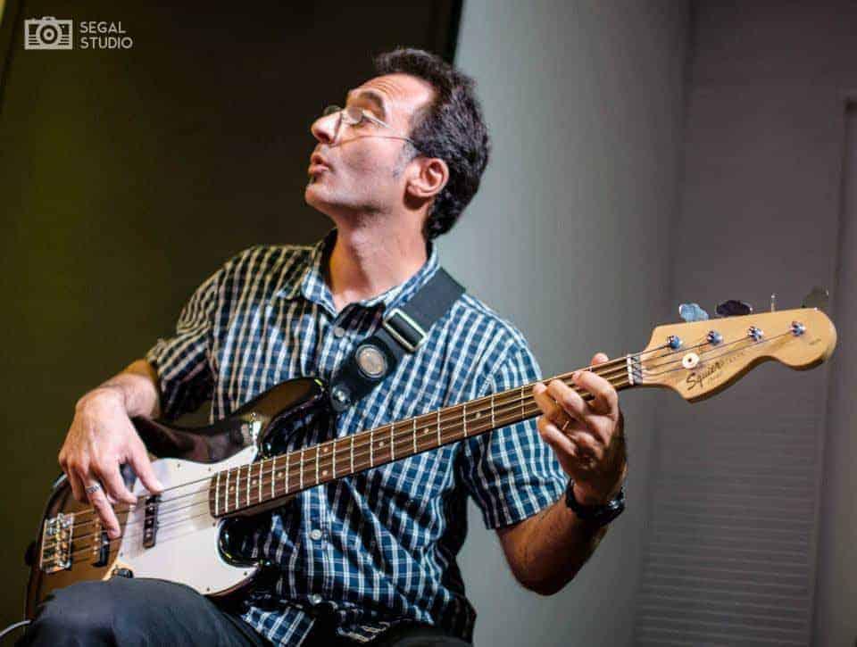 Alec playing bass