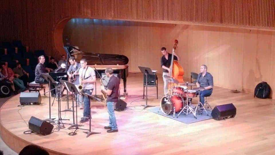 Alec with CJS Studenrt Jazz Ensemble
