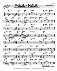 Hocus-Pocus Lead Sheet