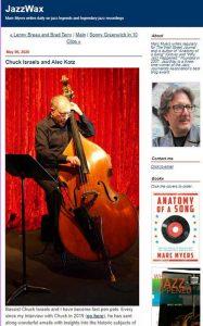 JazzWax article on Chuck Israels and Alec Katz
