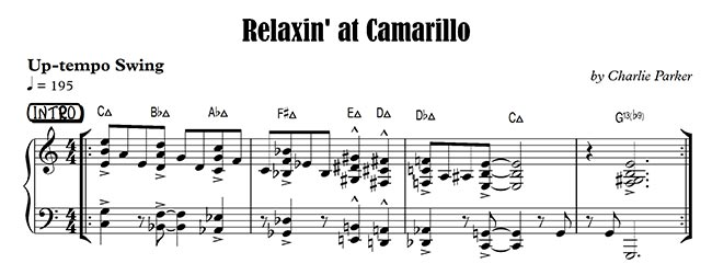Relaxin' at Camarillo Piano Intro